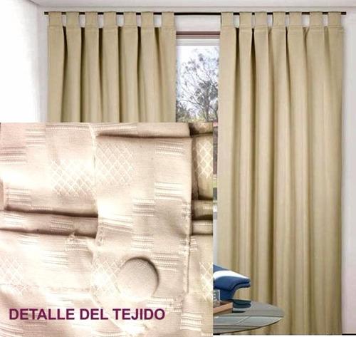 3 juegos cortinas de ambiente y dormitorio rustica con boton