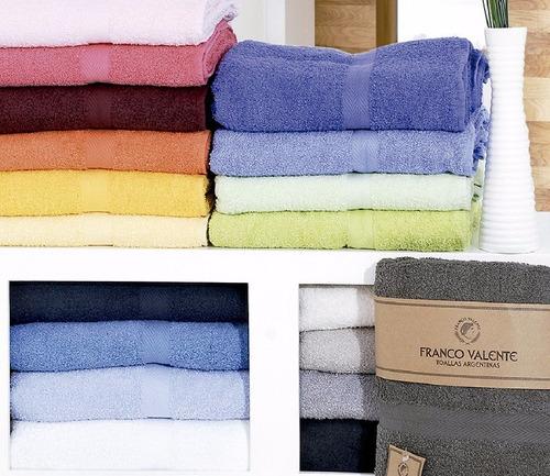 3 juegos toallas y toallones algodon franco valente 420 gram