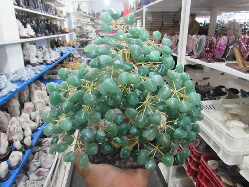3 kgs enorme arvore da sorte * quartzo verde * feito a mão