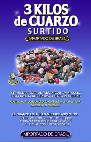 3 kilos de cuarzo surtido - calidad de importación