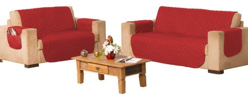 3 kit capa protetor para sofá 2/3 lugares dupla face