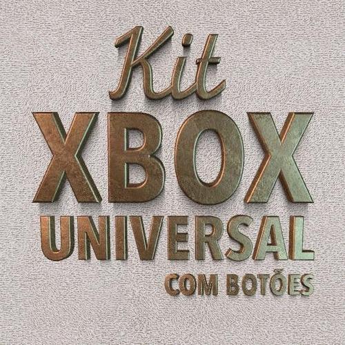 3 kits refrigeracao para videogames com botoes e cabo flat +