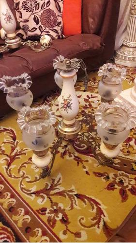 3 lamparas de porcelana, brince y briceras. excelente..
