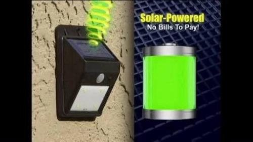 3 lamparas solar 20 leds sensor de movimiento luz permanente