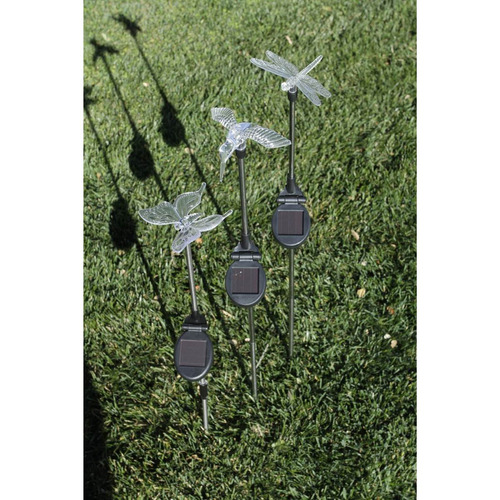3 lamparas solares luces leds lampara jardin patio solar - Luces solares jardin ...