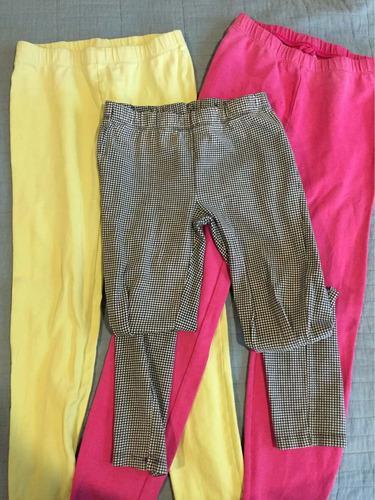 3 leggins gap niña talla 8 y 10