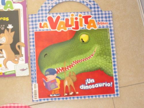 3 libritos la valijita de billiken empieza jardin, dinosauri