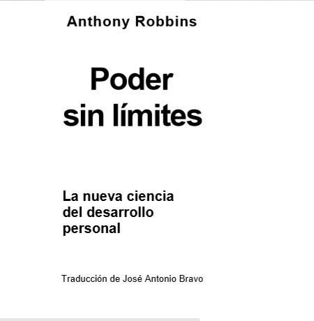 3 libros digitales de anthony robbins