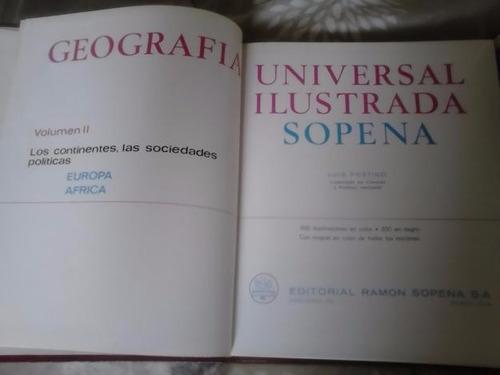 3 libros geografia universal ilustrada