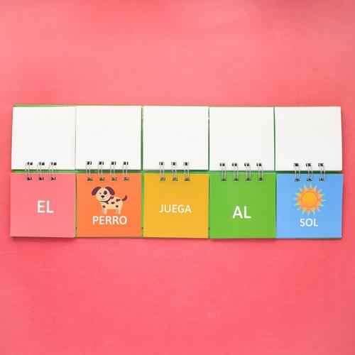3 libros móviles - letras + silabas de 3 + frases