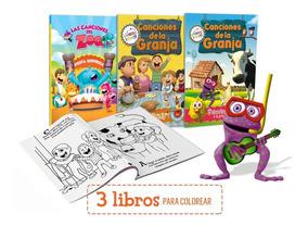 3 Libros Para Colorear De Canciones De La Granja Y Zoo