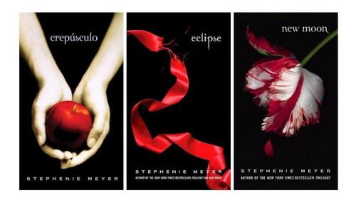 3 livros crepúsculo, eclipse, lua nova