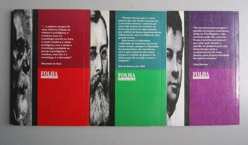 3 livros - literatura nacional - coleção crônicas escolhidas