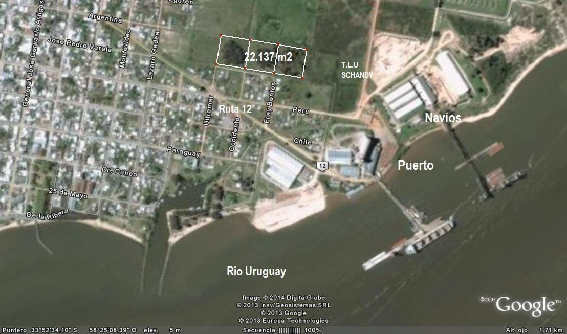 3 lotes en puerto de nueva palmira - 22.137 m2