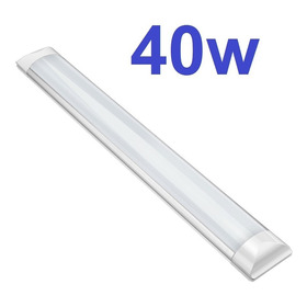 3 Luminária Led Tubular Sobrepor Slim Bivolt 120cm 6000k 40w