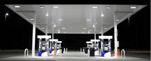 3 luminárias  led postos de gasolina /  /galpões 200w