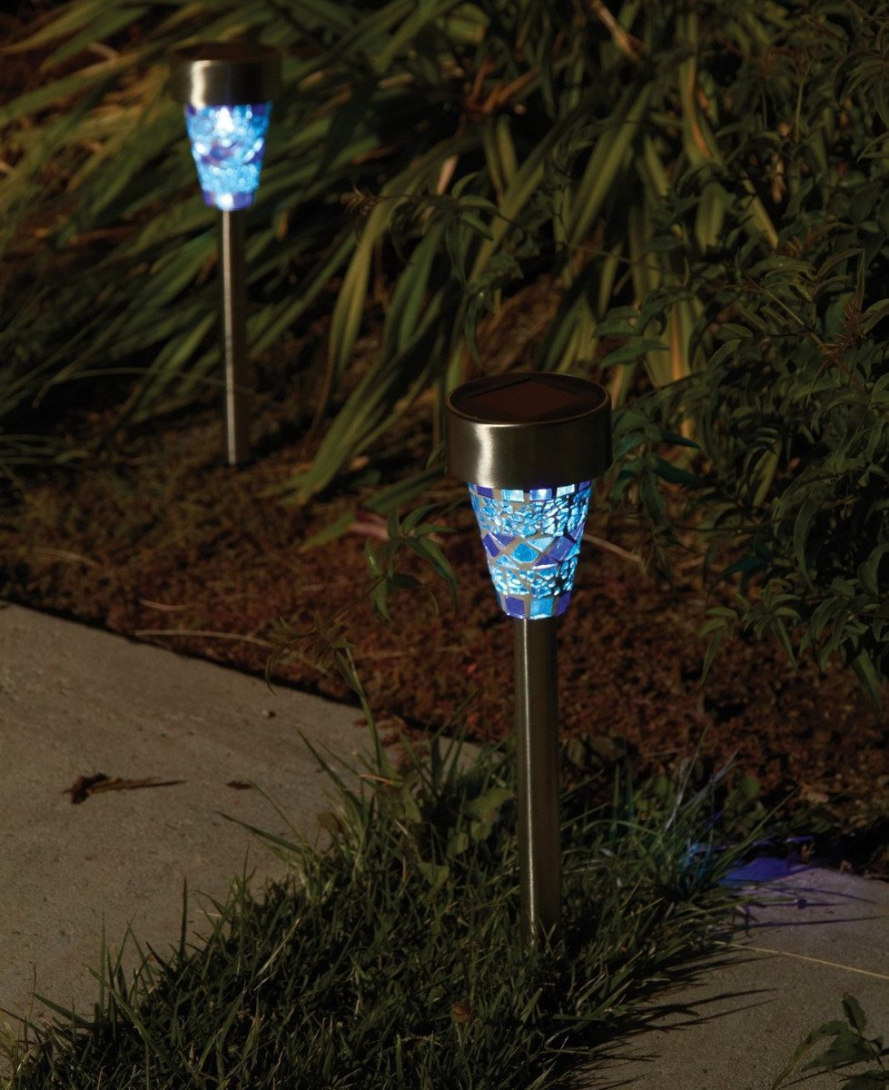 3 luz lamparas solar leds patio jardin decoracion de for Lamparas para exteriores