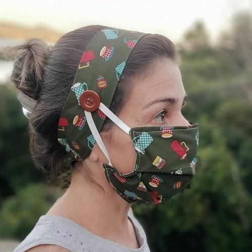 3 máscara de proteção com tiara