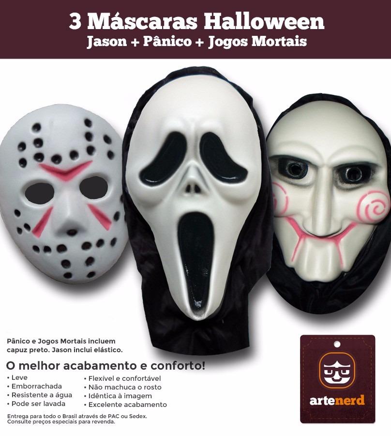 3 mascaras de terror e monstros todas emborrachadas r - Mascaras de terror ...
