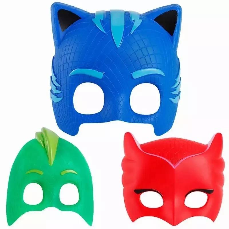 3 Mascaras Herois De Pijama Pj Mask Com Luz R 99 99 Em Mercado