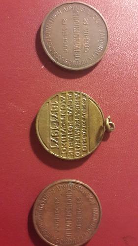 3 medallas adm nacional de puertos 1966 y ose 1971, mt065