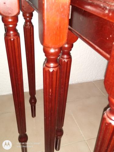 3 mesas de madera, se vende juego completo