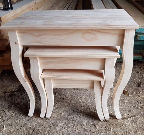 3 mesas madera maciza mesa living mesa de arrime mesa te - Mesa de madera maciza ...