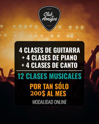 3 meses de clases guitarra piano y canto on line - 12 clases