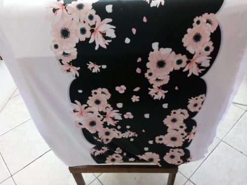 3 metros tecido suplex barrado estampa digital flores
