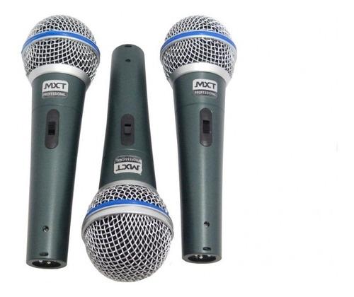 3 microfones profissionais mxt pro 58a vocal