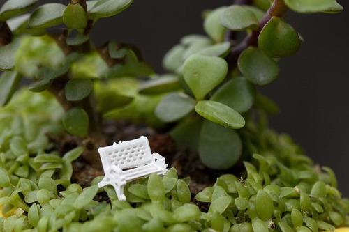 3 mini bancos terrários jardim maquetes miniaturas cadeiras