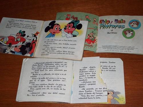 3 mini cuentos novaro 1 3 7 bambi tribilin chip dale disney