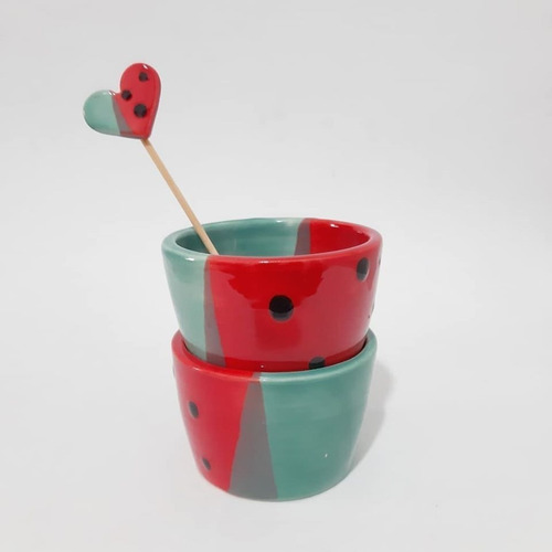 3 mini macetas coloridas ceramica souvenir cactus suculentas
