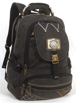 79178019f 3 Mochilas Escolar Em Lona 35l Notebook Unissex Ref: 192 - R$ 120,00 ...