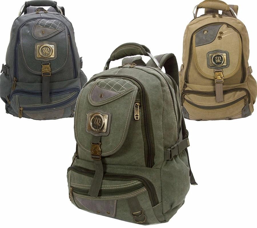 6531ac9e4 3 mochilas escolar em lona 35l notebook unissex ref: 192. Carregando zoom.