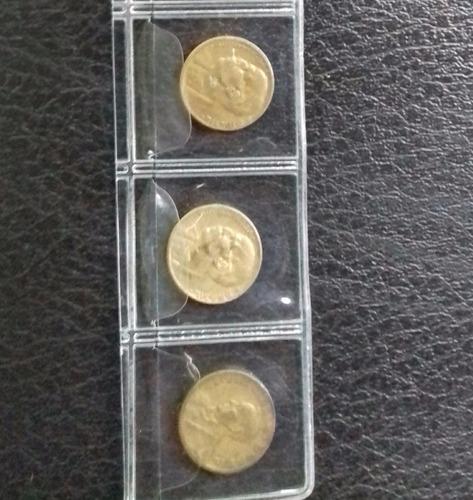 3 moedas bronze alumínio,  20 centavos 1945, 1949 e 1955