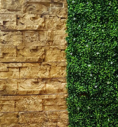 3 moldes pared piedra fachaleta fachada para yeso cemento