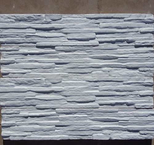 3 moldes pared piedra laja yeso concreto fachada cultivada