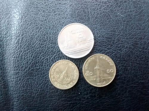 3  monedas de   tahilandia diferentes (754z