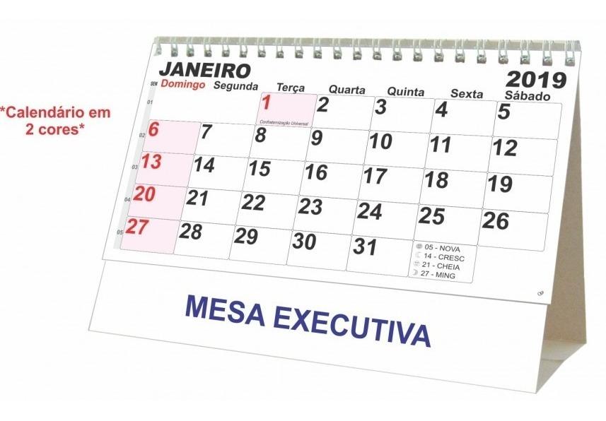 Calendario Grande.3 Na Caixa Calendario Grande Mesa Espiral Metalico 21x15 5