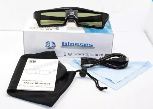 3 óculos 3d dlp ativo projetores lg optoma benq acer vivitek