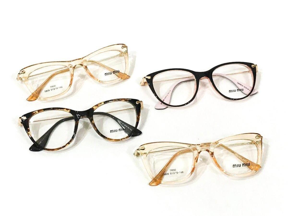 1c64488fb1423 3 óculos armação feminino transparente marc jacob + brinde. Carregando zoom.
