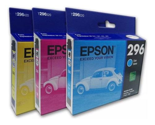 3 pack cartucho epson color t296 xp231 xp241 xp431 xp441