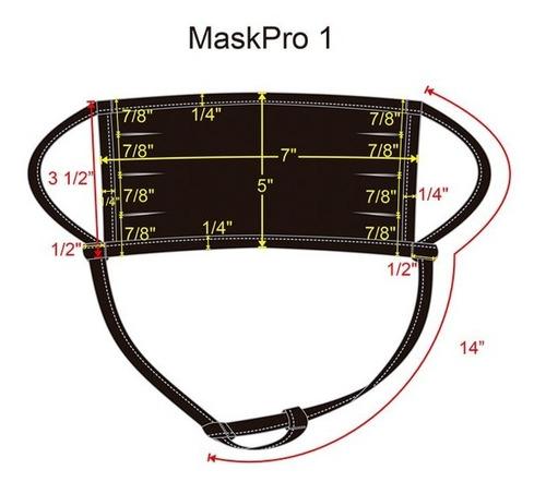3 pack cubrebocas ajustable, corte tradicional - negro m1