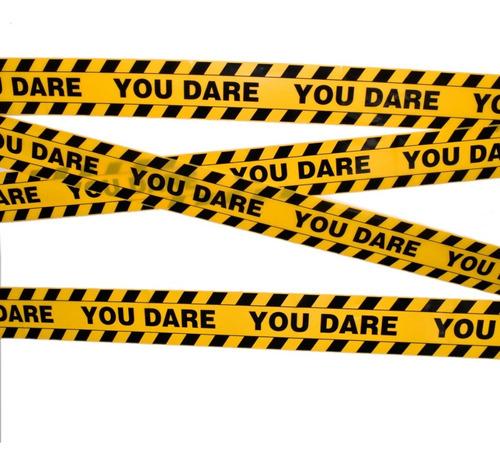 3 pack - decoración para halloween cinta de precaución amarillo c/ negro