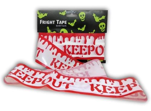 3 pack - decoración para halloween cinta de precaución sangre