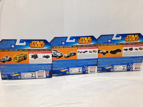 3 pack hotwheels star wars año 2014 nuevos cgx02 58gt