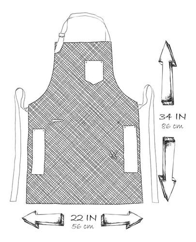 3 pack mandil delantal para chef, mezclilla 100% algodòn