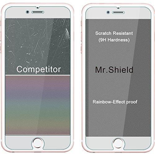 [3-pack] -mr shield para iphone 6 / iphone 6s [vidrio
