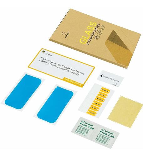 3-pack -mr.shield para kyocera duraforce e6560 templado gla